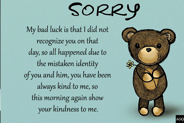 To saying gf sorry 12 Letters